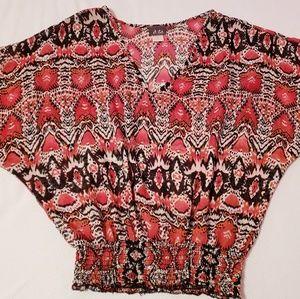DOTS Orange design blouse.